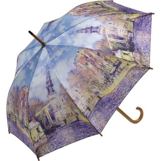 umbrella モネ【水辺の教会 】名画木製ジャンプ傘  浜松雑貨屋Copernicus