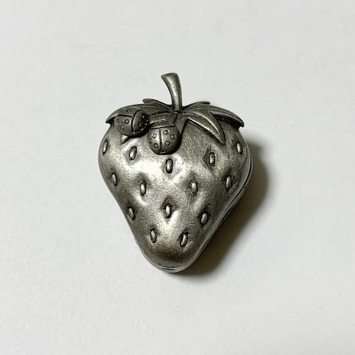 Vintage Pewter Jewelry Set (Strawberry & Ladybug)