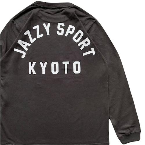 """JS """"Kyoto カレッジ ロゴ"""" ロングスリーブ Tシャツ/ヴィンテージ・ブラック"""