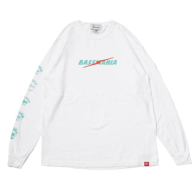 ライトニングロゴピグメントダイL/S Tシャツ [ホワイト]
