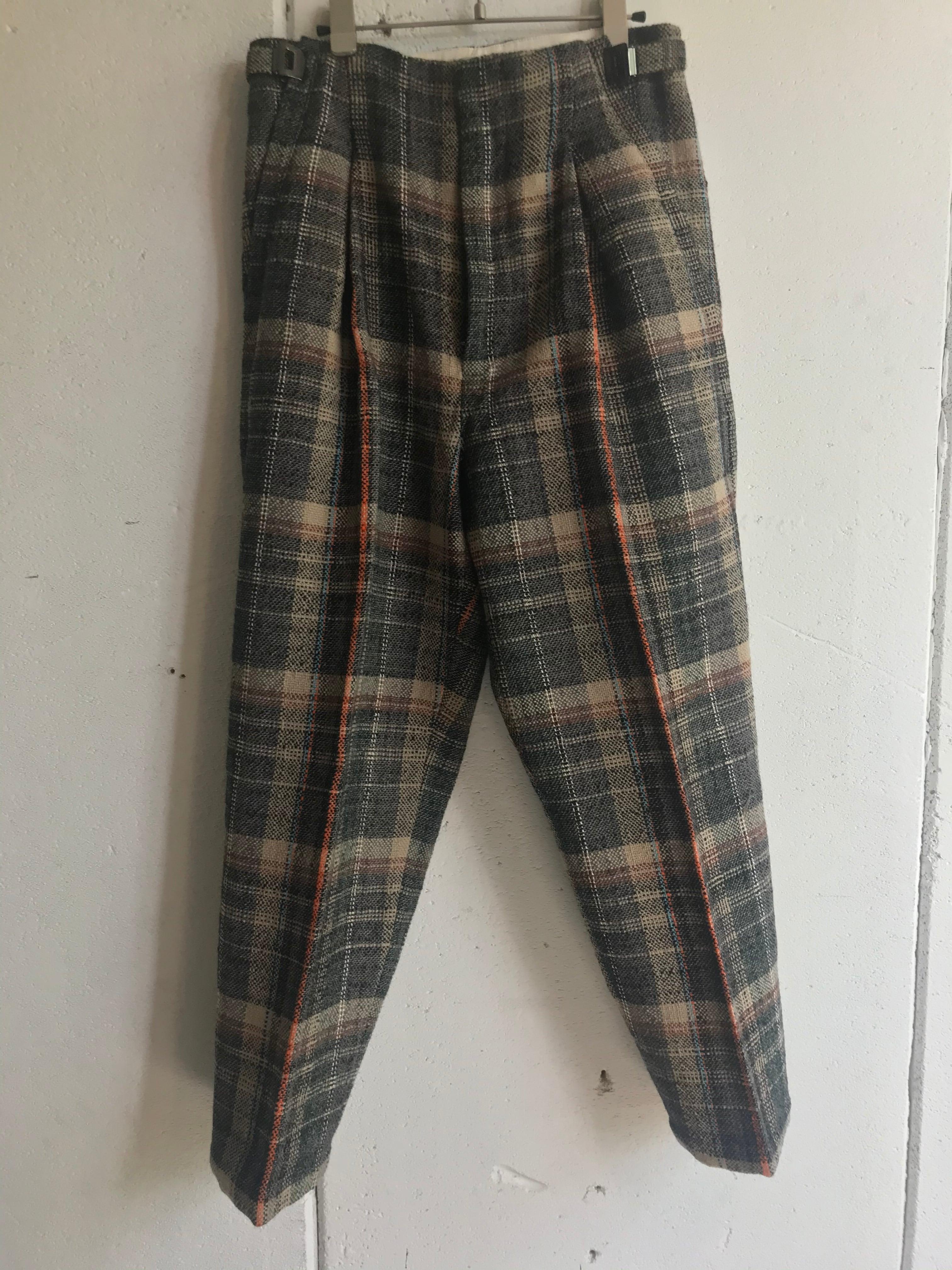 PONTI  check pants