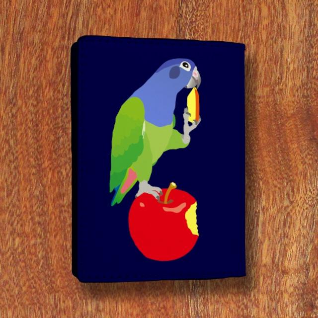 りんごとアケボノインコ カードケース