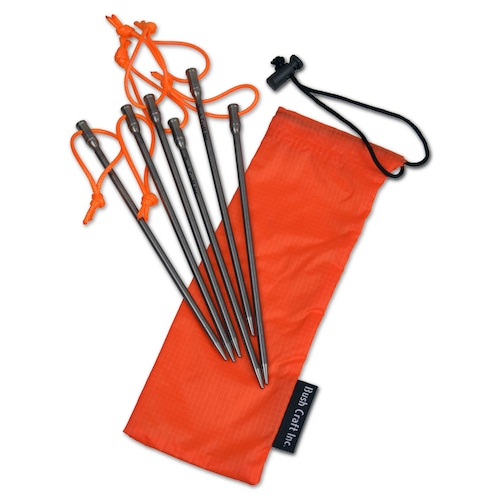 Bush Craft Inc ブッシュクラフト ブッシュネイル6本セット 自然派 キャンプ アウトドア bc4573350727829