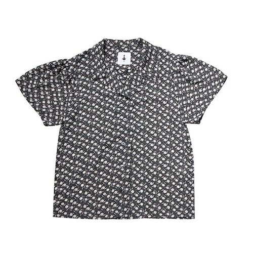 flower open collar shirt