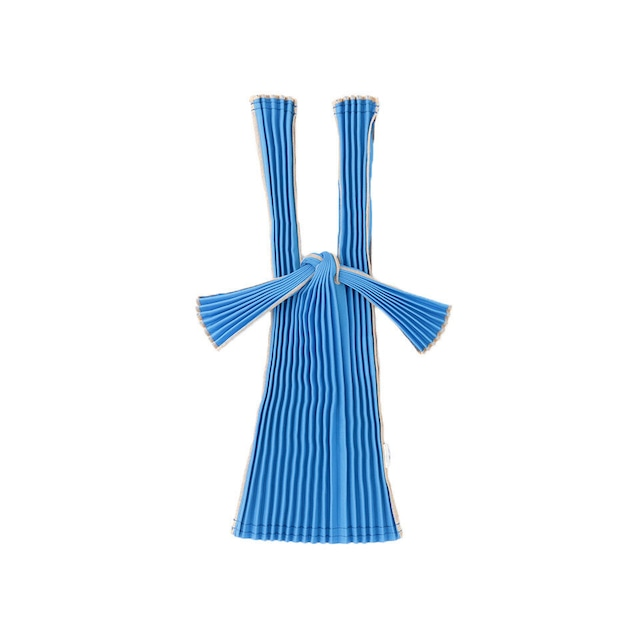 kna plus PLECO プリーツバッグ mini エコバッグ 濃縹 BLUE