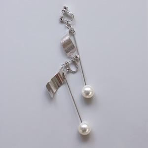 EARRINGS    【通常商品】 ROD WITH PEARL EARRINGS SILVER    1 EARRINGS    SILVER    FCF054