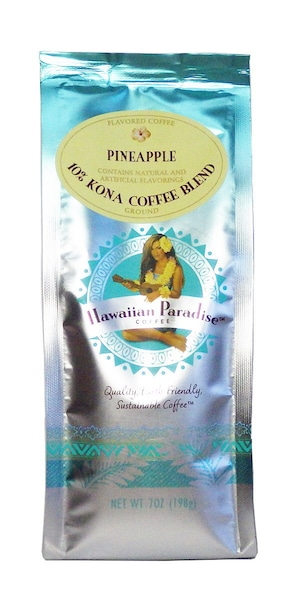 パイナップル(挽き済みの粉) ハワイアンパラダイス(7oz 198g) ハワイコナコーヒー フレーバーコーヒー