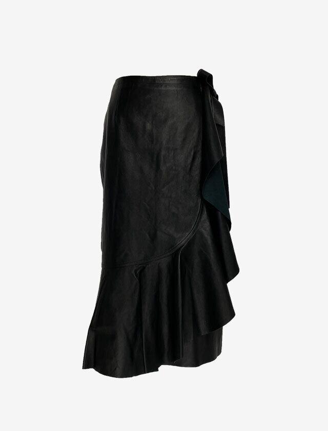 HELMUT LANG ヘルムートラング レザー ラップスカート