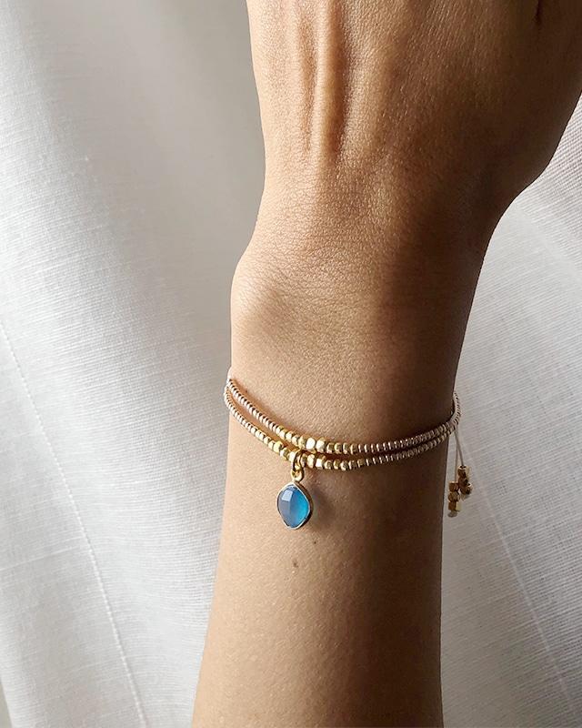 Stone charm bracelet     OBH-031