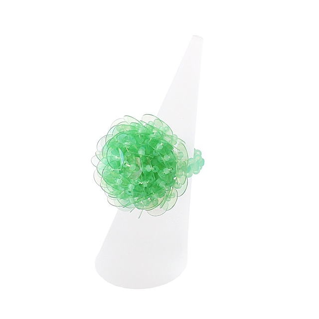 【SALE】ひびのこづえ KI-KUリング グリーン ビーズアクセサリー