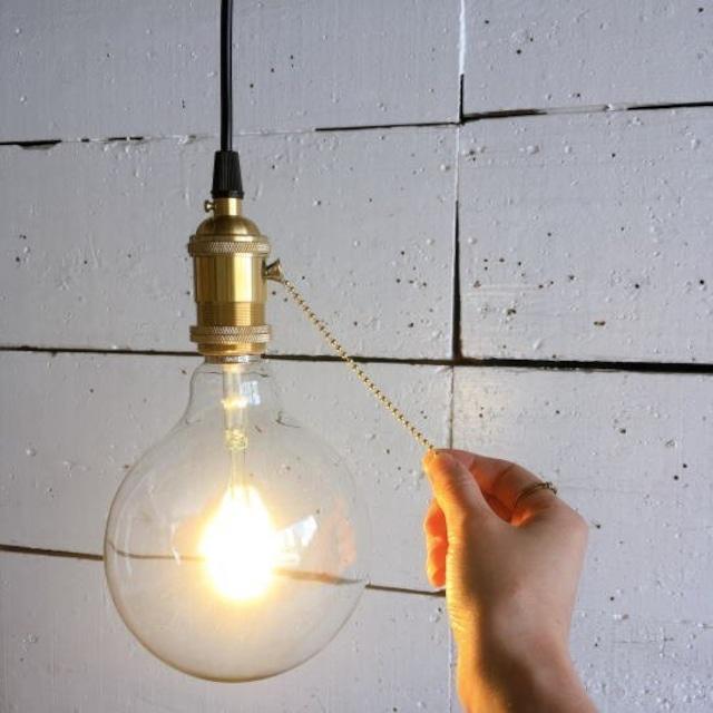 TOPANGA Lighting 真鍮ペンダントソケット プルスイッチ