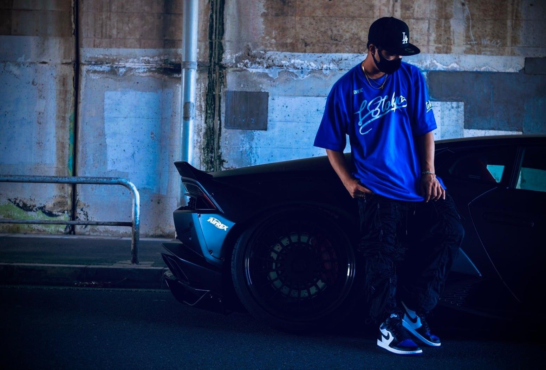 LB★TOKYO Shoelace logo Tee Blue