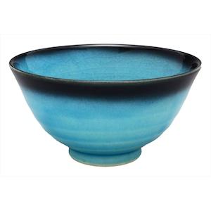 美濃焼 東山窯 トルコ貫入 飯碗 茶碗 約11cm 551-0061