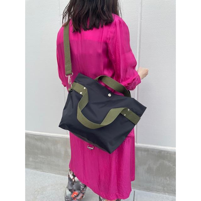 【sandglass】duffle bag(M)black / 【サンドグラス】ダッフルバッグ(M)本体ブラック