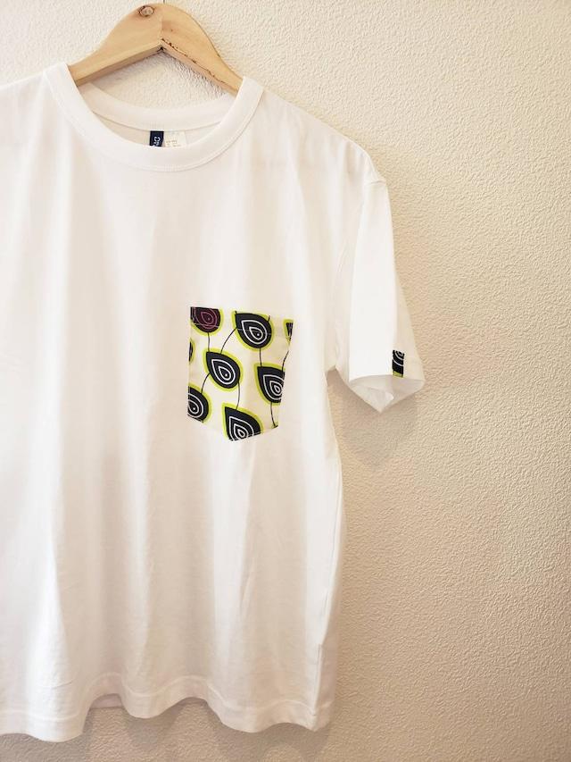 アフリカンファブリックポケットTシャツ Mサイズ