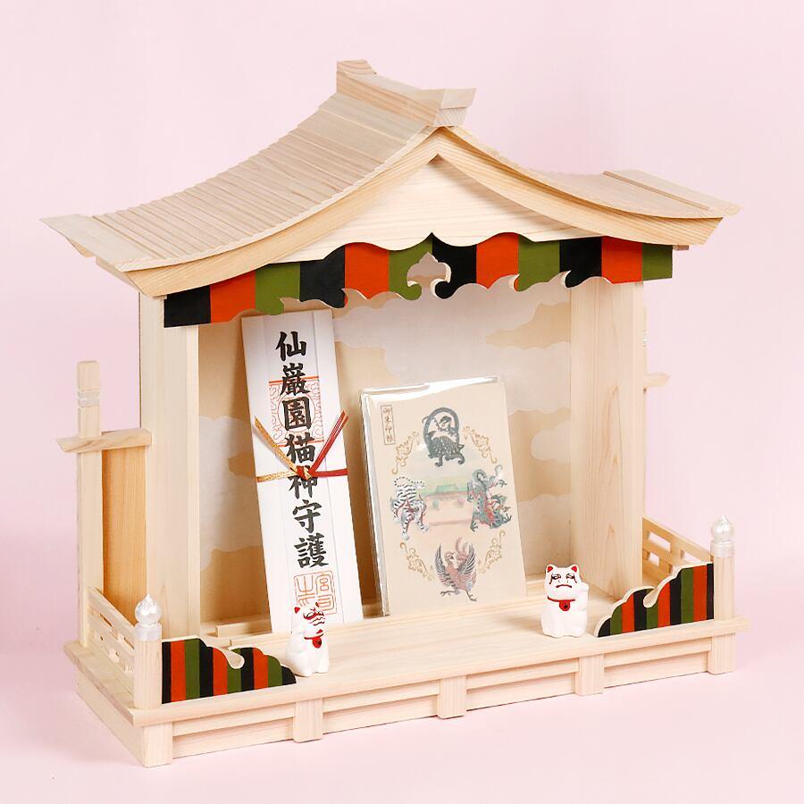 にゃんこが守護する かぶき宮 / お神札 御朱印帳 飾り