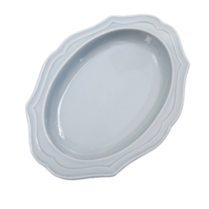 Scallop oval pasta plate / スカラップオーバルパスタプレート