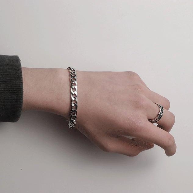Retro titanium steel bracelet   a-327