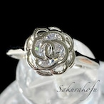 D035 ローズリング シルバー925 キュービックジルコニア レディース 指輪