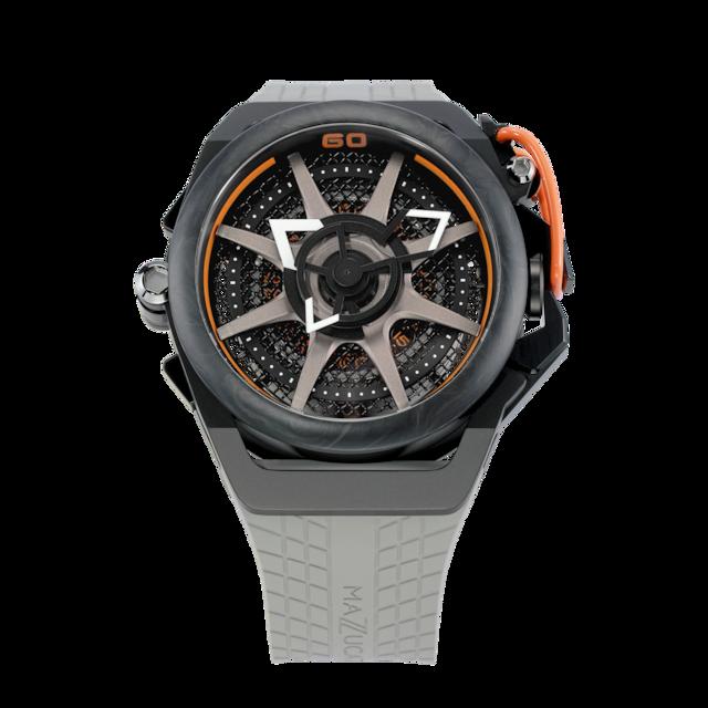 【MAZZUCATO マッツカート】RIM.F1-GYBLK/RIM SPORT MONZA(オレンジ)/国内正規品 腕時計