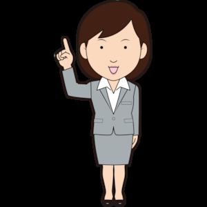 指差し女性ビジネスマン