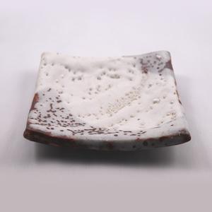 志野 銘々皿 角  Shino Small Serving Plate - Square