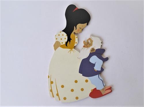 白雪姫 旧西ドイツ メルテンス クンスト Mertensーkunst 壁飾り板絵