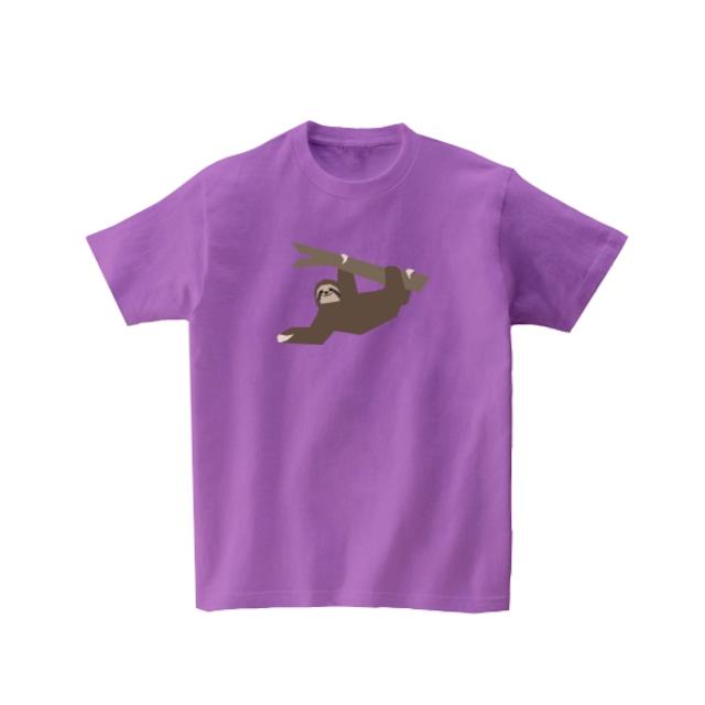 動物Tシャツ-なまけもの(ラベンダー)