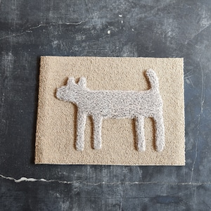 """F/style DOGGY MAT """"HOUSE"""" 玄関マット/犬用マット MIX IVORY"""