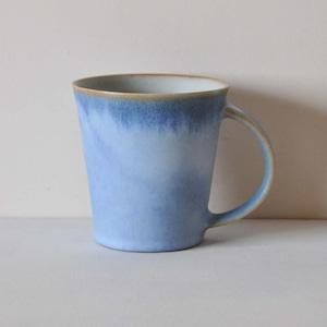 中林範夫(さんちゃ窯)青マグカップ(004)