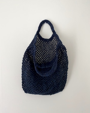 Jute macrame shopping bag Indigo|ショッピングバッグ インディゴ