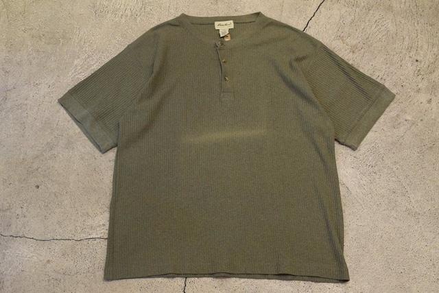 USED 90s Eddie Bauer Henry neck Tshirt -X-Large 0980