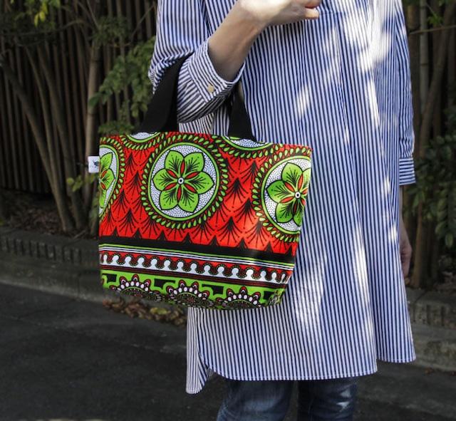 カンガのランチトート・Large|ランチバッグ / アフリカ布