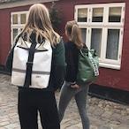 Black Backpack Norr Reflection White