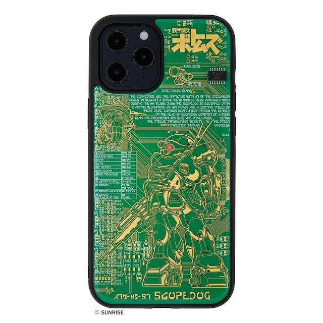 FLASH スコープドッグ 基板アート iPhone 12 Pro Maxケース 緑【東京回路線図A5クリアファイルをプレゼント】