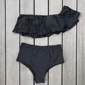 Bikini♡ワンショルダーフリルビキニ ブラック