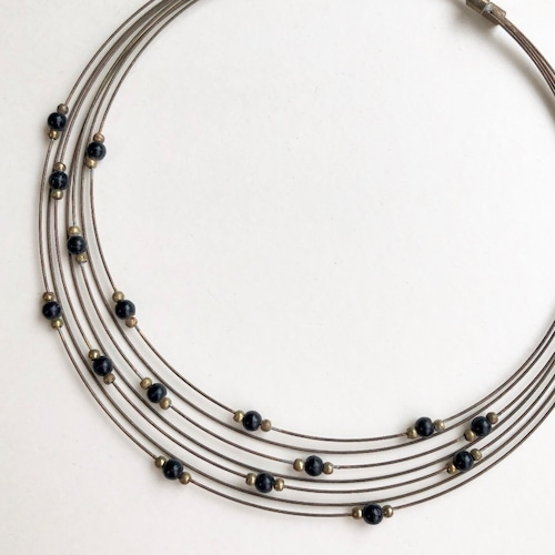Wire choker necklace NC-004