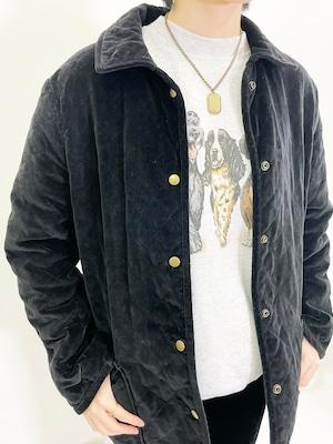 Vintage Velvet Quilting Jacket Made In USA