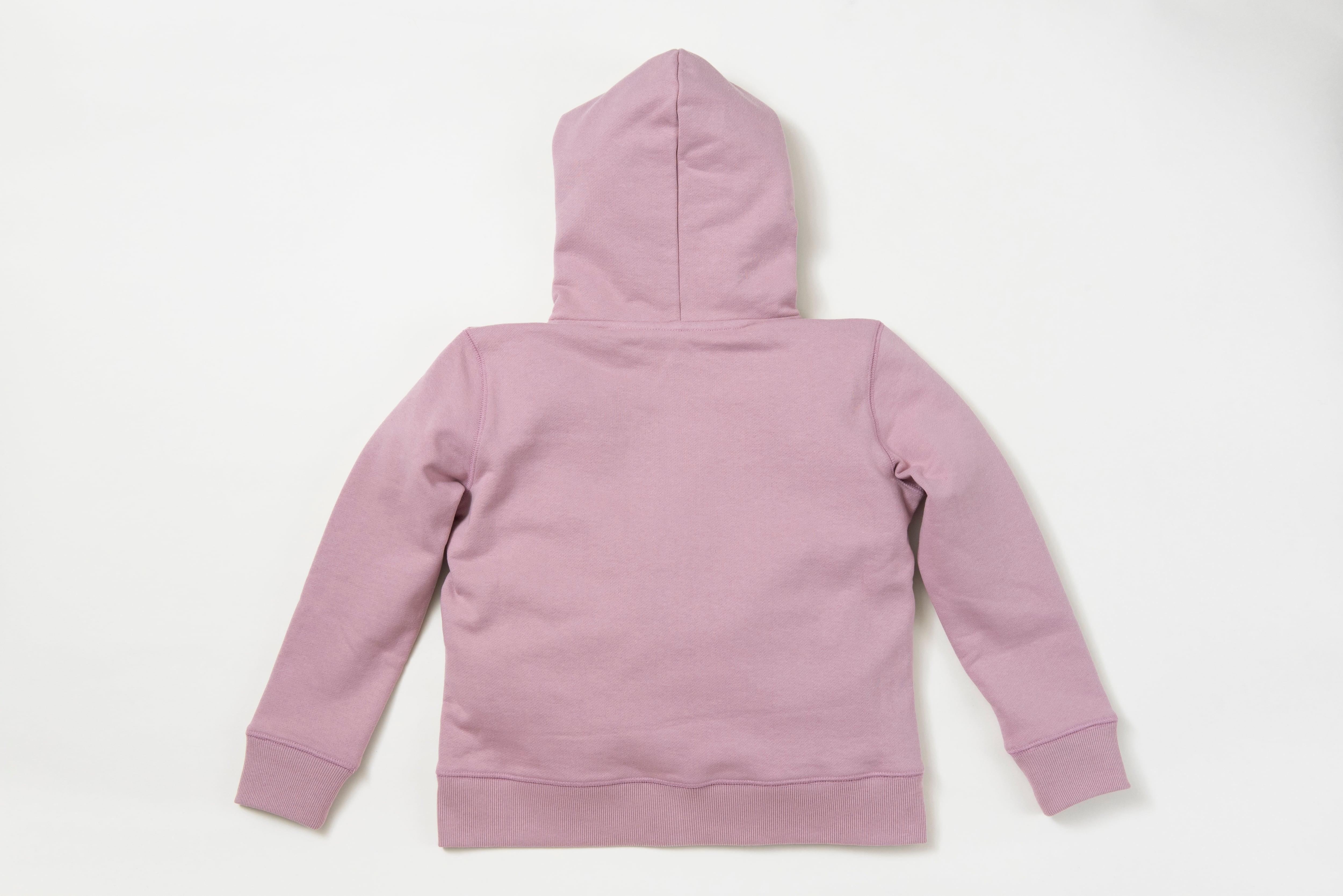 オーガニックコットンジップパーカー(ピンク)