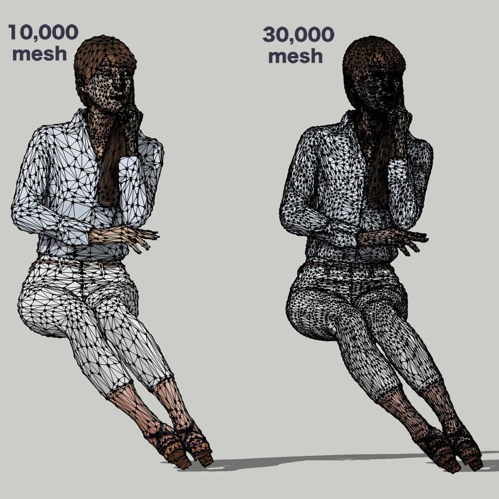 SketchUp素材 3D人物モデル ( Posed ) 009_Rika - 画像3