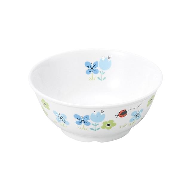 強化磁器 11cm こども茶碗 ブルーメ・ブルー【1087-1330】