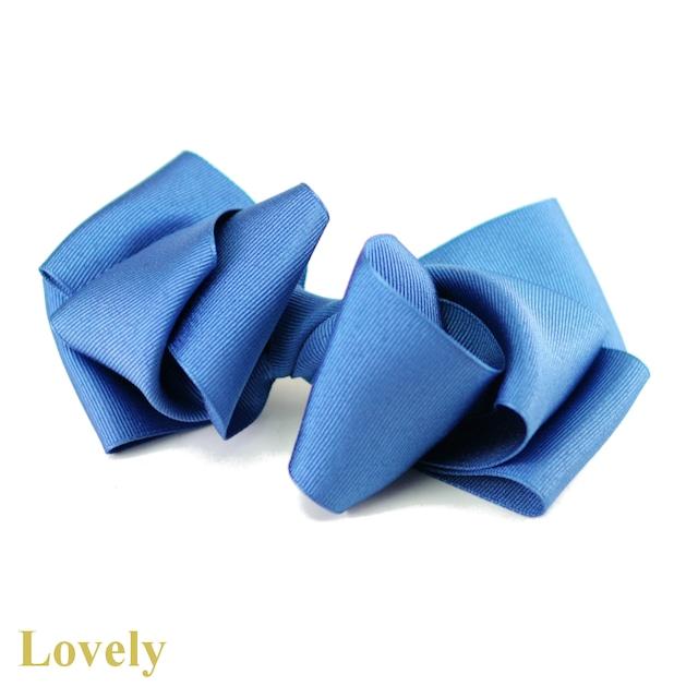 【サイドバンスクリップ】<グログラン>エアリーおリボン サイドバンスクリップ・ブルー