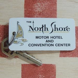 アメリカ TEH North Shore[ザ ノース ショア ]モーテル&ホテル ヴィンテージ ルームキーホルダー