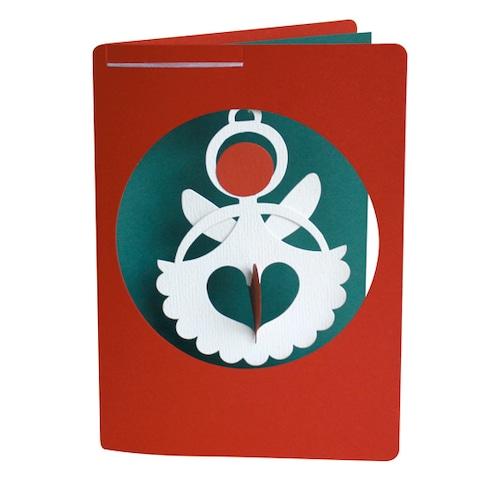 リビングリーカード 天使 (モビール付きメッセージカード)