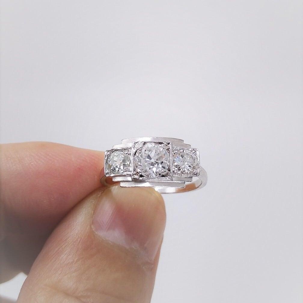 Art-Deco Diamond Ring   アール・デコ ダイヤモンド リング
