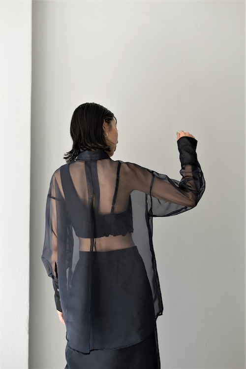 ROOM211 / See Through Bustier Shirt