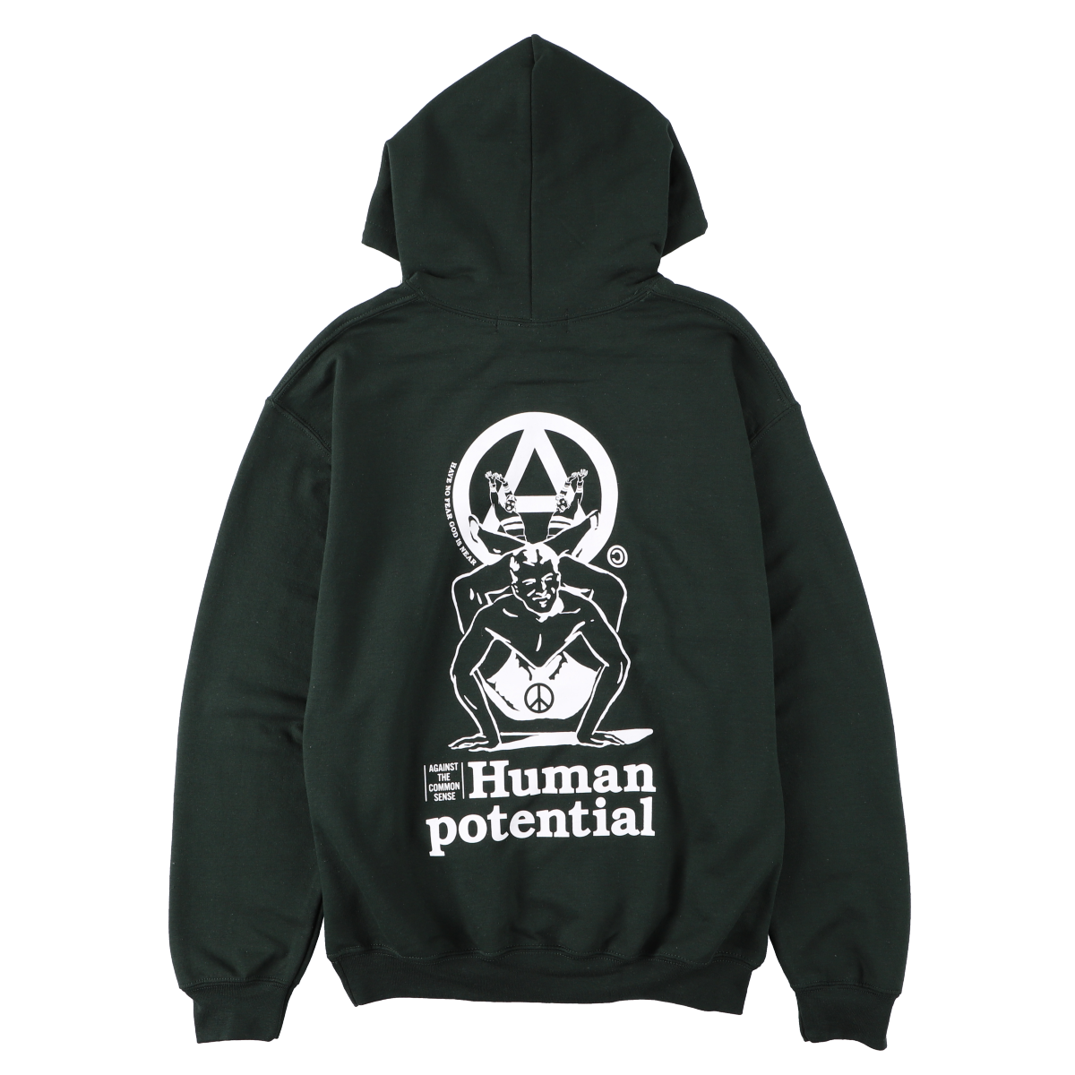Human Potential Hoodie Forest Green