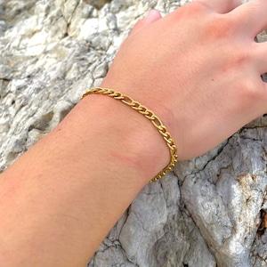 Figaro Chain Bracelet【5mm/GOLD】