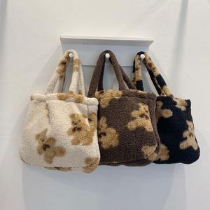 bear tote bag A 3colors / ベア トートバッグ テディーベア エコバッグ くまさん 韓国雑貨