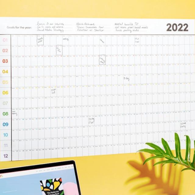 "Poketo ""2022 Dated Poster Planner"" カレンダー・ポスタープランナー"